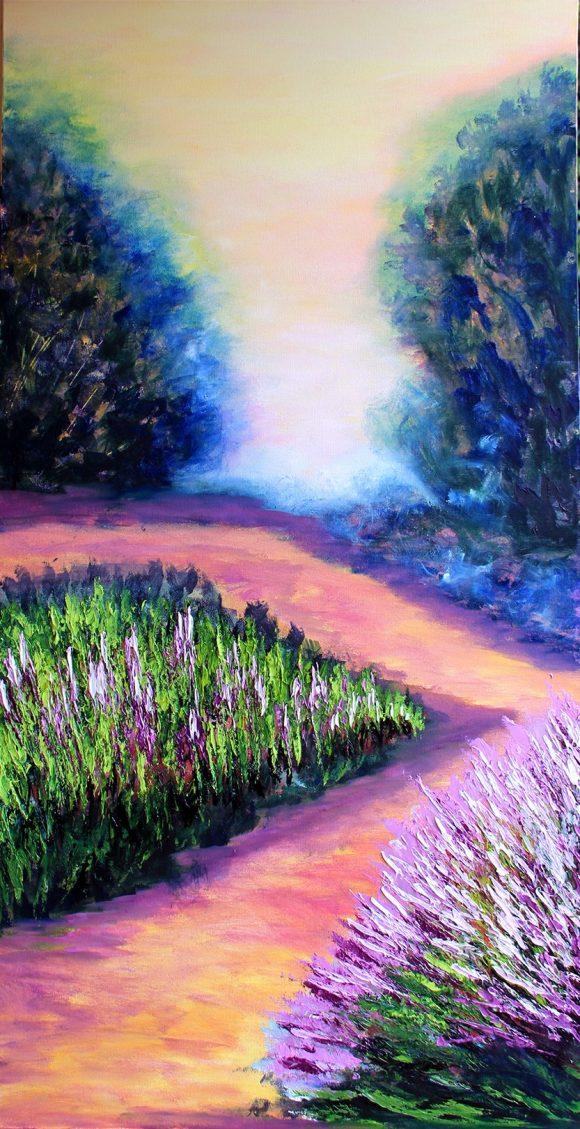Oil painting on canvas , 100см х 50см