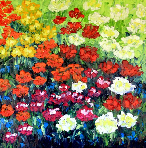 Oil painting on canvas,  76см х 76сm