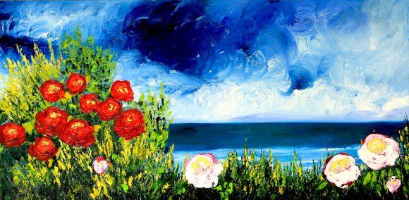 Oil painting on canvas,  50см х 101cm