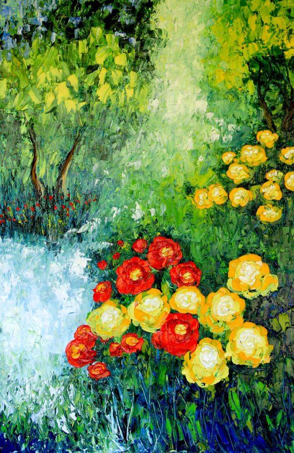 Oil painting on canvas, 91сm х61cm