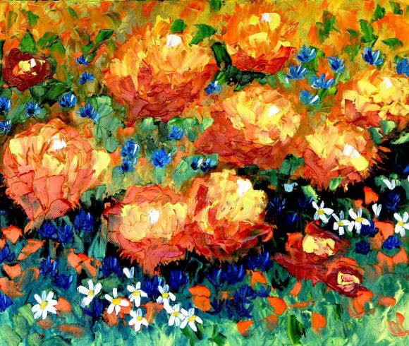 Oil painting on canvas,  50см х 60сm