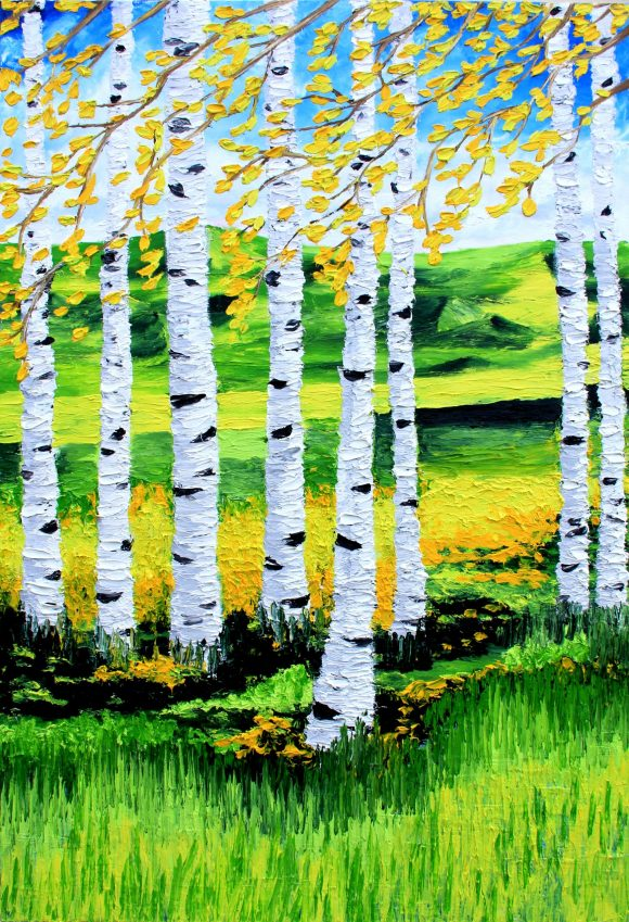 Oil painting on canvas 80