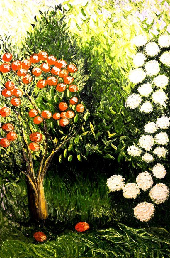 Oil painting on canvas, 152cm  х 100cm